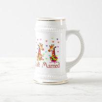 Wedding Giraffes Beer Stein
