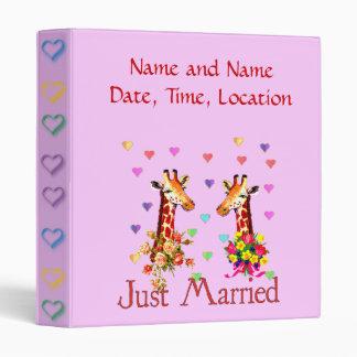Wedding Giraffes Binder