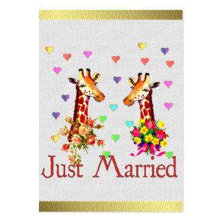 Wedding Giraffes Business Card Templates