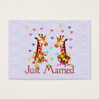Wedding Giraffes Business Card