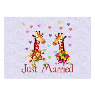 Wedding Giraffes Business Card Template