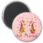 Wedding Giraffes Fridge Magnets