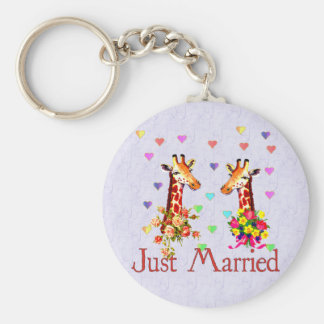 Wedding Giraffes Keychain