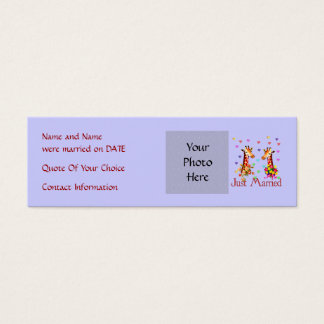 Wedding Giraffes Mini Business Card