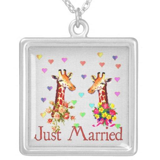Wedding Giraffes Necklaces