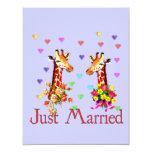 Wedding Giraffes Personalized Invite