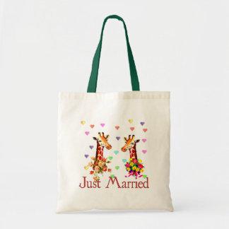 Wedding Giraffes Tote Bag