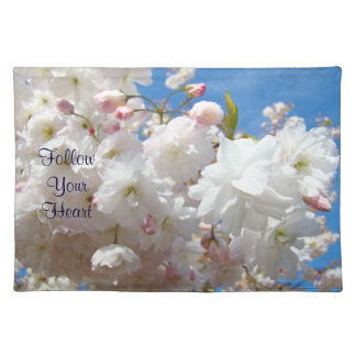 Wedding gits placemats Follow Your Heart Blossoms