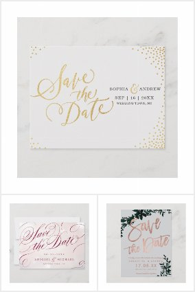 Wedding - Gold And Glitter