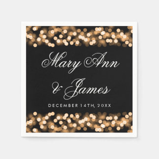 Wedding Gold Hollywood Glam Paper Napkin