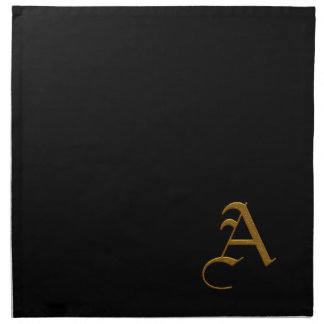 Wedding Gold Monogram Napkins