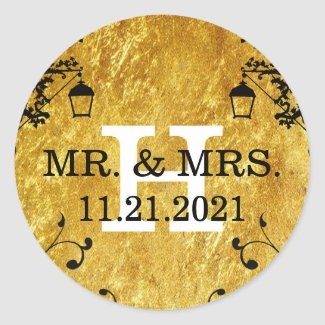 Wedding Gold Stickers