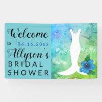 Wedding Gown Beach Themed Bridal Shower Banner