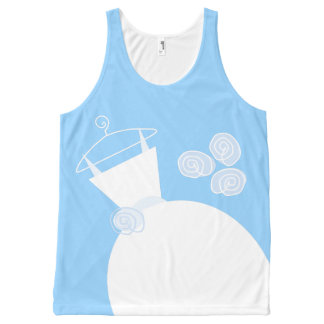 Wedding Gown Blue all over tank top