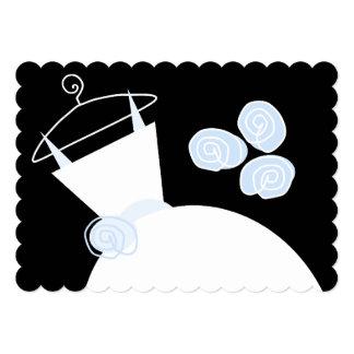 Wedding Gown Blue bridal shower black pastel Card