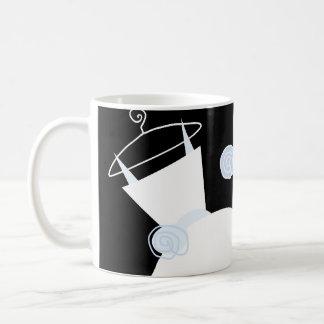 Wedding Gown Blue 'Bride Groom' mug black