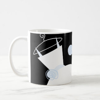 Wedding Gown Blue 'Bride' mug black
