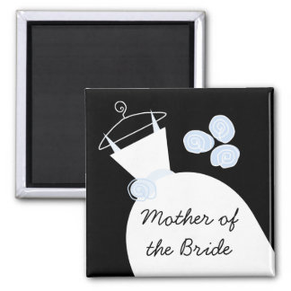 Wedding Gown Blue 'Mother of the Bride' black Magnet