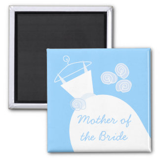 Wedding Gown Blue 'Mother of the Bride' Magnet