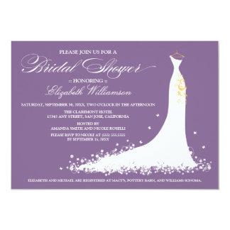Wedding Gown Bridal Party Invitation (purple)