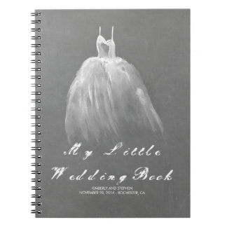 Wedding Gown Bride To Be Romantic Vintage Notebook