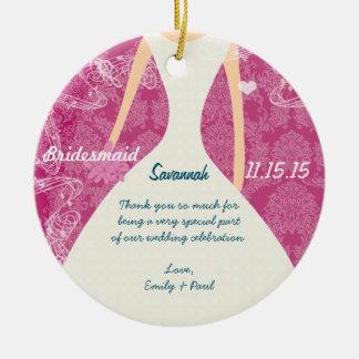 Wedding Gown Bridesmaid Choose Colors Ceramic Ornament