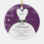 Wedding Gown Bridesmaid Wedding Christmas Ornament