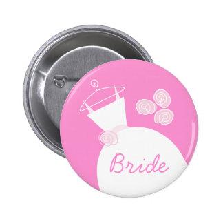 Wedding Gown Pink 'Bride' button
