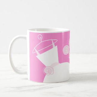 Wedding Gown Pink 'Bride Groom' mug