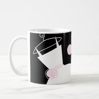 Wedding Gown Pink 'Bride Groom' mug black