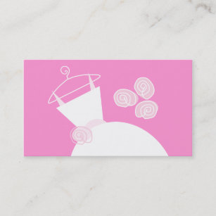 Pink gown business cards templates zazzle wedding gown pink business card template flashek Choice Image