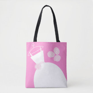 Wedding Gown Pink Mother Bride blck text Tote Bag