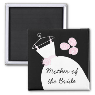 Wedding Gown Pink 'Mother of the Bride' black Magnet