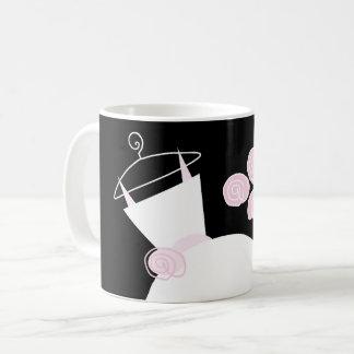 Wedding Gown Pink mug black