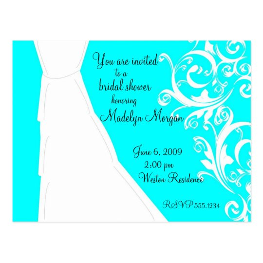 Wedding Gown Postcard