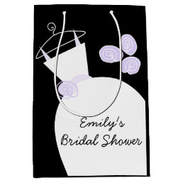 Wedding Gown Purple Bridal Shower black medium Medium Gift Bag