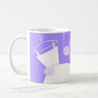 Wedding Gown Purple 'Bride Groom' mug