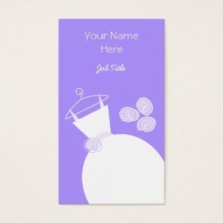 Wedding Gown Purple business card portrait