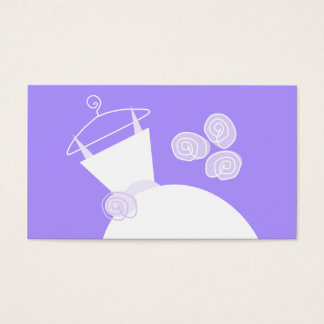 Wedding Gown Purple business card template