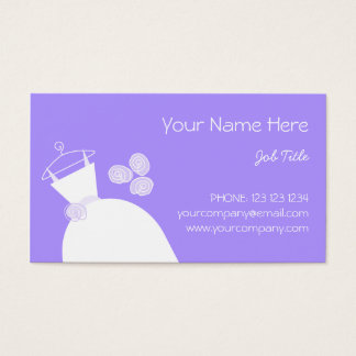 Wedding Gown Purple business card template 2
