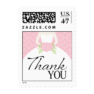 Wedding Gown Thank You Postage Stamp