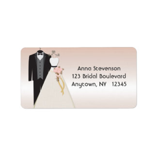 Wedding Gown, Tuxedo Peach Label