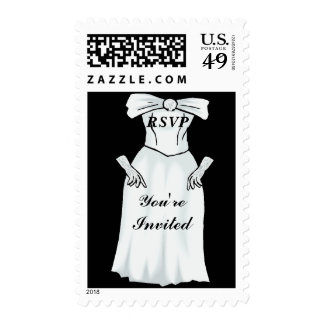 Wedding Gown You re invited Postage Stamps