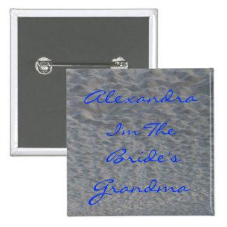 Wedding Grandma Beach Name Identifier Pin