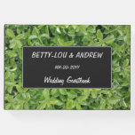 [ Thumbnail: Wedding — Green Hedge Shrub Type Plant Photograph Guest Book ]