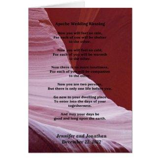 Wedding Greeting Card Apache Blessing Inside v2