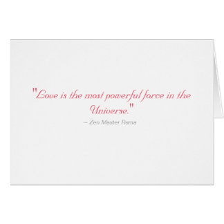 Wedding Greeting Card: Love is most powerful force Card