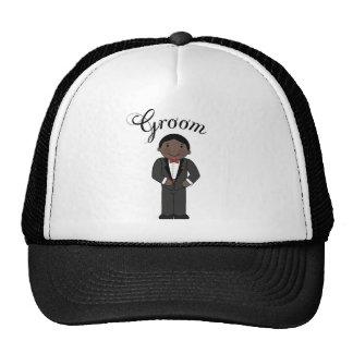 Wedding Groom (Black) Gift Trucker Hat