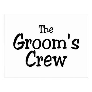 Wedding Grooms Crew Postcard