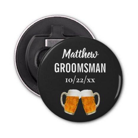 Wedding Groomsman Bachelor Party Favor Beer Cheers Bottle Opener